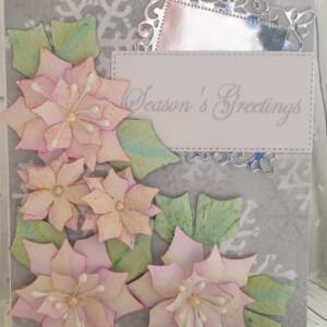 poinsettia handmade christmas card