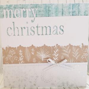 Soft coloured layered christmas card