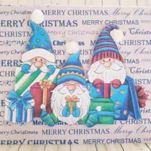 scandanavian gnome christmas card