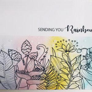 Sending you rainbows greeting card