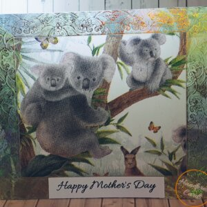 Australiana Mother's Day greeting card