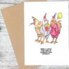 hen birthday greeting card