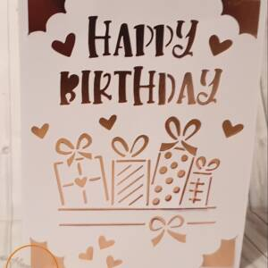 Foil happy birthday greeting card