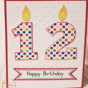 Child's Age Birthday Card