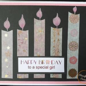 pink birthday greeting card